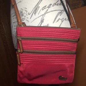 Dooney & Bourke red nylon cross body